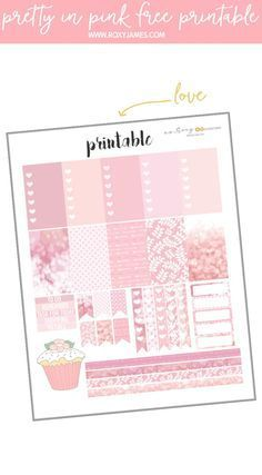Free Pretty in Pink Planner Printable | Roxy James