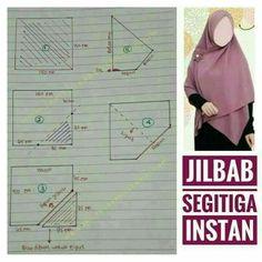 Best 12 Instead if vertical seam down front, try horizontal overlap seam under chin Hijab Style Dress, Hijab Chic, Dress Sewing Patterns, Clothing Patterns, Instant Hijab, Modele Hijab, African Fashion Ankara, Hijab Tutorial, Girl Hijab