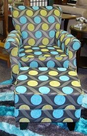 Love the colours in this chair