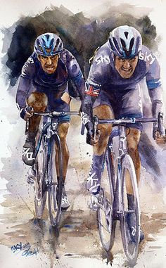 Collection of watercolour cycling arts painted by artist Dtai s. Hansathit - Collection of watercolour cycling arts painted by artist Dtai s. Cycle Drawing, Cycle Painting, Watercolor Images, Watercolour, Bike Poster, Bicycle Race, Bicycle Maintenance, A Level Art, Cycling Art