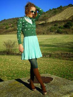 Dream a little dream of me...: Mint dress on a sunny day http://malketa.blogspot.com.es/2013/12/mint-dress-on-sunny-day.html