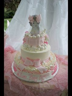 """Photo 1 of 26: Pink and White shabby chic / Baby Shower/Sip & See """"bubbles and blessings"""""""