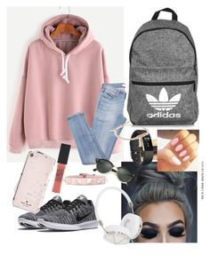 """Lazy day"" by caraline60 on Polyvore featuring NIKE, Pura Vida, Fitbit, Valentino, Vera Bradley, Casetify, Kate Spade, Frends, adidas and Maybelline"