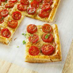 #tarta tatin de tomates cherrys con albahaca #receta #cenas #fácil #sencilla