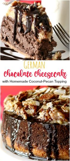 If you're looking for the perfect Cheesecake to serve for special occasions or guests, this German Chocolate Cheesecake fits the bill. The rich coconut-pecan topping is amazing paired with the double chocolate cheesecake and coconut cookie crust. Rich. Delicious. Special-occasion worthy.