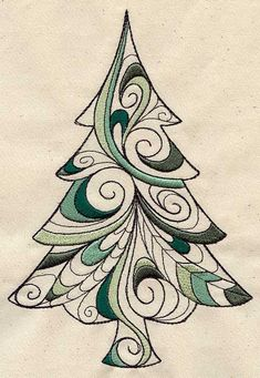 This is an embroidery design, but looks like Zentangle. by Zitarita Christmas Doodles, Christmas Drawing, Christmas Art, Christmas Decorations, Christmas Design, Christmas Tree Zentangle, Christmas Ornament, Zentangle Patterns, Embroidery Patterns