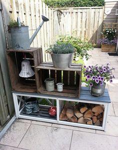 Hoe leuk is dit aan je schutting schutting decoratie pinterest schutting tuin en tuin idee n - Outdoor tuin decoratie ideeen ...