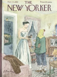The New Yorker - Saturday, November 22, 1952 - Issue # 1449 - Vol. 28 - N° 40 - Cover by : Perry Barlow