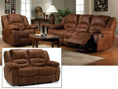 Living Room Furniture-Tanner 3 Pc. Living Room Package
