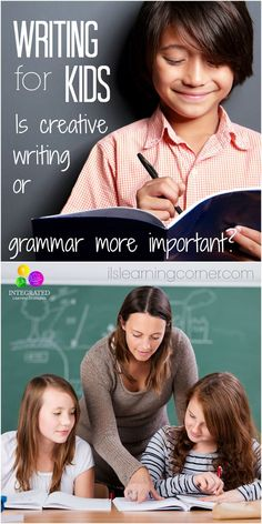 Writing for Kids: Is it better for Kids to focus on Writing Concepts or Grammar? | ilslearingcorner.com #kidswritingactivities