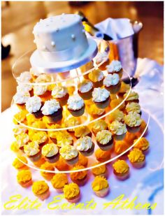 TRUE WEDDINGS | A Lemon Wedding by Elite Events Athens | Anca & Konstantinos | Wedding Tales - Ο γάμος των ονείρων σας! Cupcakes, Breakfast, Sweet, Desserts, Wedding, Food, Morning Coffee, Candy, Tailgate Desserts
