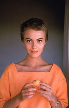 This color is amazing.   Jean Seberg  Image Via: N'East Style
