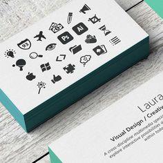 stamped business cards for visual designer