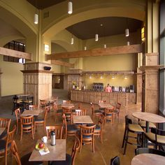 I know we'll probably never have a coffee shop but the room design is cool Church Interior Design, Interior Columns, Church Design, Interior Ideas, Church Lobby, Church Foyer, Church Events, Church Welcome Center, Church Fellowship
