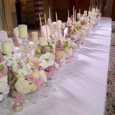 Pastel flowers centerpiece with silver candle holder and tea light candles Tea Light Candles, Tea Lights, Silver Candle Holders, Pastel Flowers, Italy Wedding, Flower Centerpieces, Floral Design, Table Decorations, Home Decor