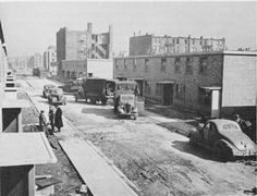 Frances Cabrini Homes  To accommodate the migrants, new housing was built on a large scale. These tenants are moving into the Frances Cabrini Homes in Chicago in 1942. The Federal Housing Authority built separate projects for blacks and whites.