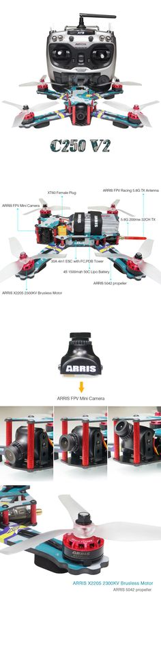 Quadcopters and Multicopters 182185: Arris C250 V2 250Mm Rc Quadcopter Fpv Racing Drone Rtf W Flycolor 4-In-1 Tower -> BUY IT NOW ONLY: $294.48 on eBay!