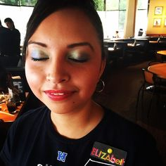 Sea Hawks C Hawks ... I feel a little pre-Hawk fever starting to brew tonight! I was at California Pizza Kitchen on Blue Friday in Bellevue WA and low and behold check out our waitresses aka Elizabeth's eyes! She dolled them up & were soooooooooo festive! #FanOfTheDay (outside of me). #BlueandGreen #BlueFriday #GoHawks #Twelfie #Twelves #SeahawkFever #LegionOfBOOM #LOB @_russell._.wilson_ @richardsherman4real #LoveMyTeam @kam_chancellor31 #CHawks #HawkNation #12s #InstaWinAgainstRams…