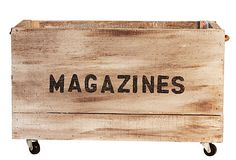 """Love this storage box for the countless magazines I have. """"Magazines"""" Crate, Small on OneKingsLane.com"""