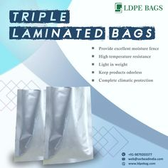 Sorbead India provide #LDPEbags which are #USFDA approved antistatic bags. Our bags are widely used in #API, #excipients, #pharmaceuticalpowders, #bulktablets & #capsulespackaging Our contact details are as mentioned below: www.ldpebag.com web@sorbeadindia.com +91 9879203377 Moisturizer, Personal Care, India, Bags, Moisturiser, Handbags, Self Care, Goa India, Personal Hygiene