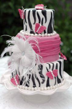 Unique Graduation Cakes | Zebra Graduation Cake - Gallery - A Piece O' Cake
