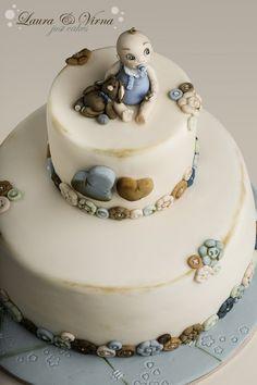 first communion cake - by Laura e Virna just cakes @ CakesDecor.com - cake decorating website