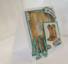 Stamping at The Warren: Country Livin Large Numbers Masculine Birthday Card Stampin' Up! UK