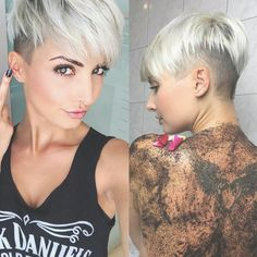 Just a great cut on @jejojejo87 hmmm what is that body scrub | hair ... | Frauen Haare |