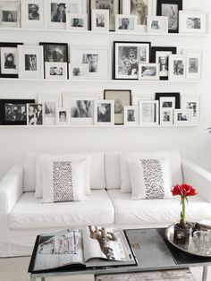 Photo Wall Gallery... Great way to display photos, especially on a large wall!