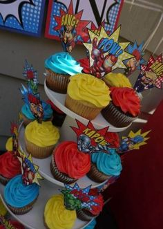 Birthday cake kids lego cupcake toppers 55 Ideas for 2019 Avengers Birthday, Superhero Birthday Party, 6th Birthday Parties, Birthday Cupcakes, Boy Birthday, Super Hero Birthday, 5th Birthday Ideas For Boys, Avenger Party, Superman Party