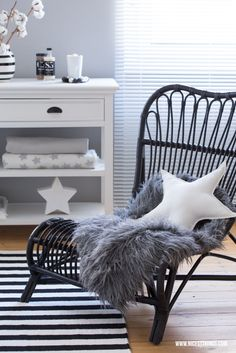 House Doctor Lounge Chair, Star Pillow, Sheepskin, Kähler Omaggio