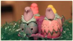 Easter Eggshell Cupcakes Allrecipes.com definitely making these this year.  I can't wait to see the faces on my family members and eat the peeps.