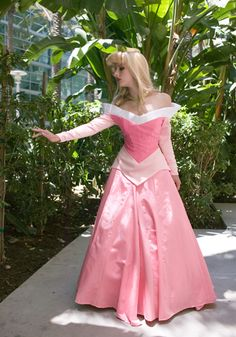Perfect neckline on this incredibly accurate costume and character. (Disney's Sleeping Beauty - this is not a Disney costumed character, this is cosplay!)