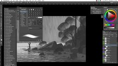 Speeded up version of the process of painting one of my images.