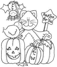 Imagenes Country y moldes - Raquel Chavarri - Picasa Web Albums Fall Coloring Sheets, Halloween Coloring Sheets, Fall Coloring Pages, Adult Coloring Pages, Coloring Pages For Kids, Coloring Books, Kids Coloring, Halloween Cards, Fall Halloween