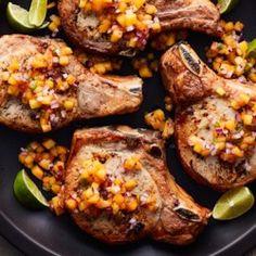 Grilled Ranch Pork Chops with Peach Jalapeno Salsa - Allrecipes.com
