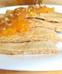 Tortitas de avena y claras con mermelada - Yo elijo una vida sana