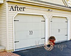 """DIY: """"New"""" Garage Doors By Adding New Hardware, including the link to buy the hardware."""