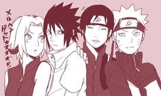 Team 7: Sakura, Sasuke, Sai and Naruto