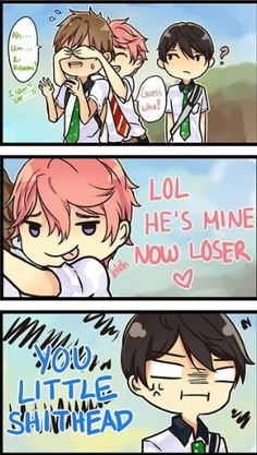 Free! ES ~~ Kisumi is just the romantic randomizer we need mid-series. :: Makoto, Haruka, and Kisumi