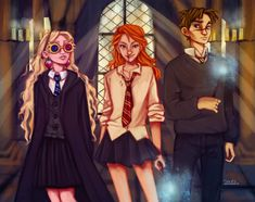 The Silver Trio by tasiams Go Luna Neville and Ginny