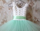 Mint flower girl tutu dress, crochet tutu dress, wedding tutu dress, tutu dress, corset back tutu dress, toddler tutu dress, baby tutu