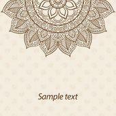 Karte oder Einladung. Mandala. Alte dekorative Elemente. Handgezeichnete Hintergrund. Islam, Arabisch, Indisch, osmanische Motive — Stockvektor #77496338