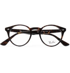 The perfectly round shape of Ray-Ban's glasses recalls vintage eyewear. This pair is made from tortoiseshell acetate, which is naturally flexible and exceptionally lightweight. Have them fitted with your personal prescription, or alternatively, UV lenses. Glasses Frames Trendy, Vintage Glasses Frames, Round Frame Glasses, Ray Ban Hombre, Mens Frames, Glasses Trends, Round Ray Bans, Fashion Eye Glasses, Ray Ban Glasses