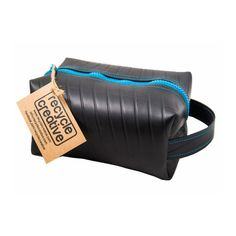 Box Toiletries Bag made from used inner tube.
