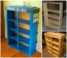How To Build Wood Tardis Bookshelf Instructions Ideas Free Plan