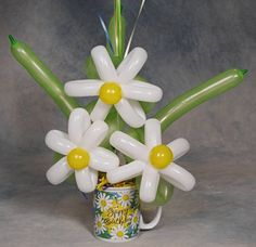 Garden of Daisies Birthday Balloon Bouquet ~ Tulsa, OK