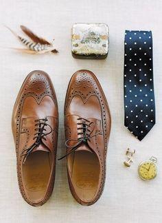 shoes,ties, pocket watch etc