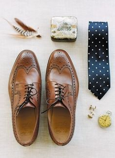 shoes,ties, pocket watch etc