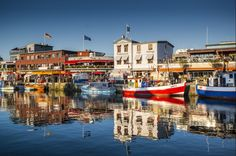 Boats, Waterfront, Warnemunde, Scleswig Holstien and the Baltic Coast, Germany